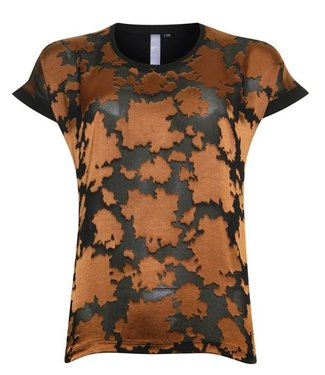 Poools T-shirt woven transparant zwart 943144