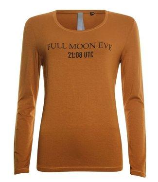 Poools T-shirt longsleeve bruin 943141