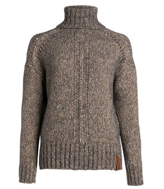 Moscow Cowl sweater groen/bruin FW19-57.02