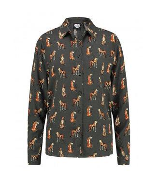 Catwalk Junkie Blouse night Cheetah groen 1902043605
