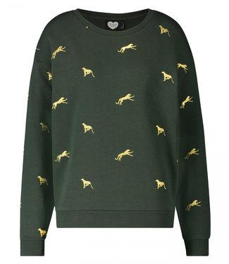 Catwalk Junkie Sweater on the run groen 1902041005