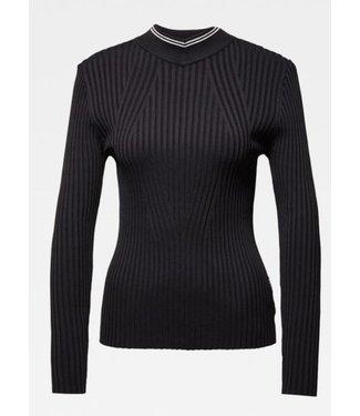 G-Star Lynn mock turtle knit zwart D15553-B754-6484