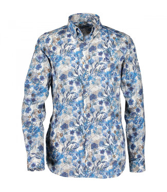 State of Art Shirt Printed Poplin kobalt 214-29860-5784