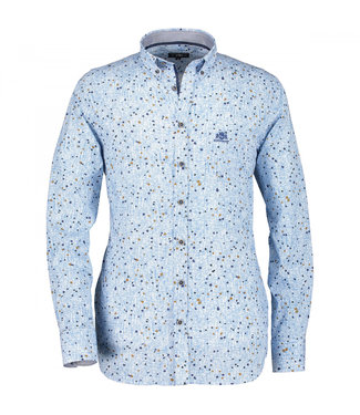 State of Art Shirt Printed Poplin kobalt 214-29853-5784