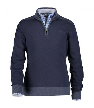 State of Art Pullover Sportzip donkerblauw 133-29851-5959