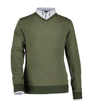 State of Art Pullover V-Neck donkergroen 123-29852-3939