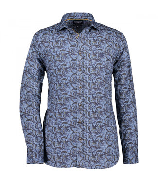 State of Art Shirt Printed Poplin donkerbruin 21429195-8957