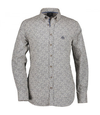 State of Art Shirt Printed Poplin donkerbruin 214-29194-8984