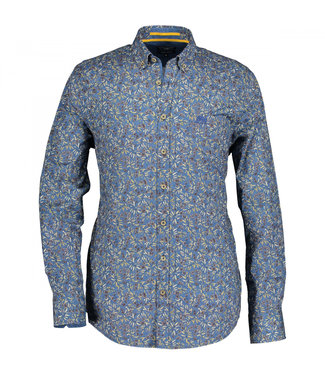 State of Art Shirt Printed Poplin donkerbruin 214-29167-8923
