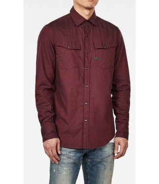 G-Star 3301 slim shirt rood D15517-B821-9812