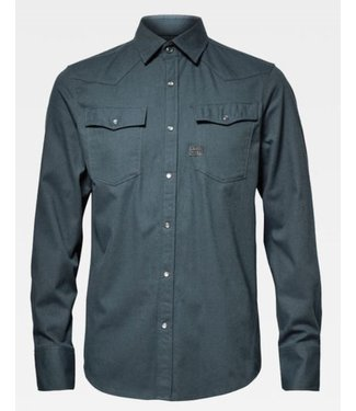 G-Star 3301 slim shirt blauw D15517-B821-2990