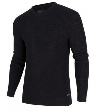 Cavallaro Aranido v-neck pullover zwart 1895009