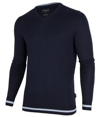 Cavallaro Romagno v-neck pullover donkerblauw 1895007