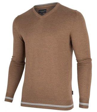 Cavallaro Romagno v-neck pullover bruin 1895007