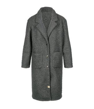 Zusss Warme wollige jas grijsgroen 03WJ19nBsg