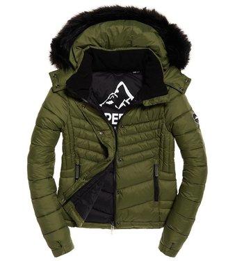 Superdry Fuji slim 3 in 1 jacket groen W5000022A