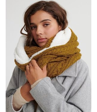 Superdry Gracie cable snood geel W9300003A