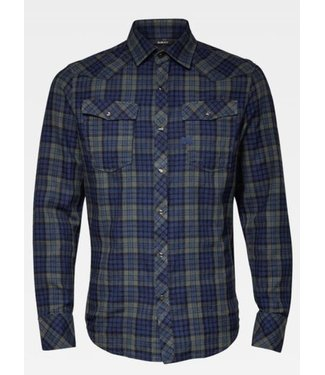 G-Star 3301 slim shirt blauw D15459-B842-B070