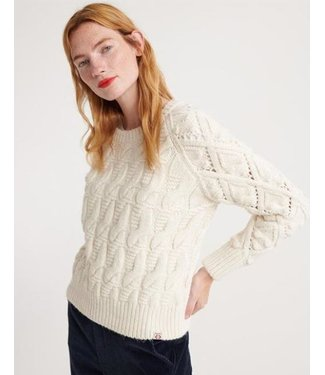 Superdry Sophie Ann cable knit off white W6100025A