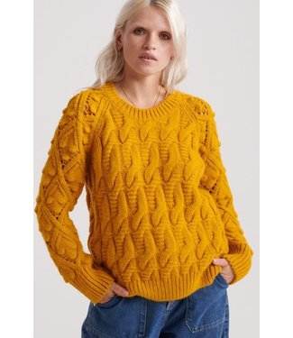 Superdry Sophie Ann cable knit geel W6100025A