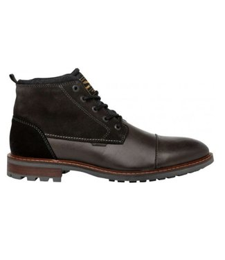 PME Legend Mid boot dressual, leather suede Black PBO196035