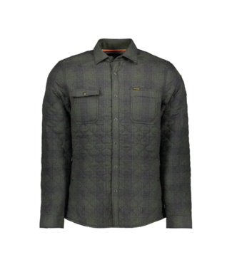 PME Legend Long Sleeve Shirt Melange Check Qu Rosin PSI197231-6154