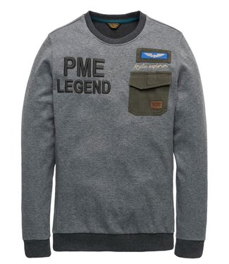 PME Legend Long sleeve r-neck Heavy Jersey Me Black Onyx PTS197501-9139