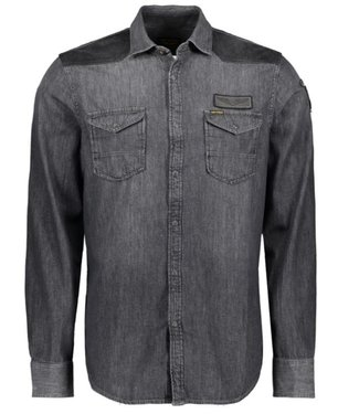 PME Legend Long Sleeve Shirt Denim Black Indigo PSI197213-998