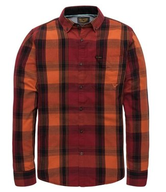 PME Legend Long Sleeve Shirt Twill Check Orangeade PSI197211-2119