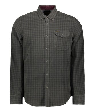 PME Legend Long Sleeve Shirt Cord Check Beluga PSI196205-8039