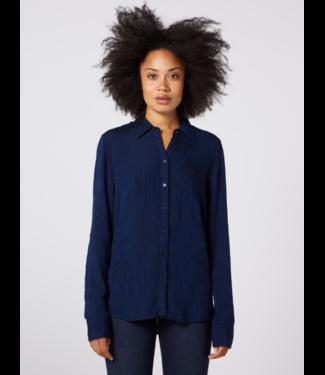 Wrangler Regular 1 pkt shirt blauw W5Q5M151L