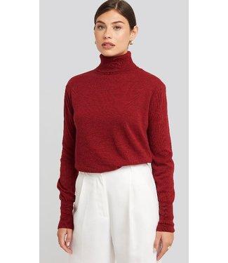 NA-KD High neck balloon sleeve sweater rood 1018-003909