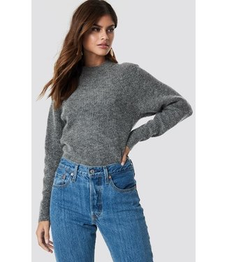 NA-KD Wool blend sweater antraciet 1286-000078