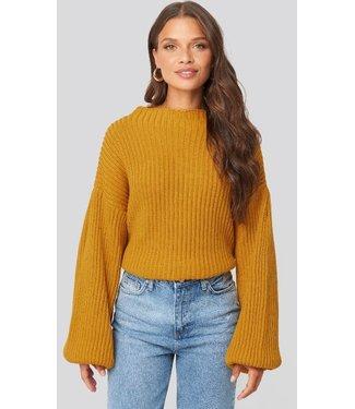 NA-KD Balloon sleeve sweater geel 1100-000253