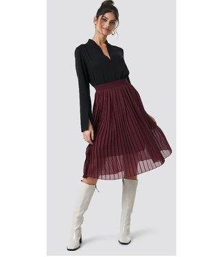 NA-KD Midi pleated skirt rood 1018-002496