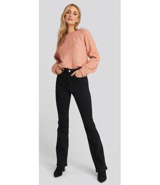 NA-KD Skinny bootcut jeans zwart 1100-001901