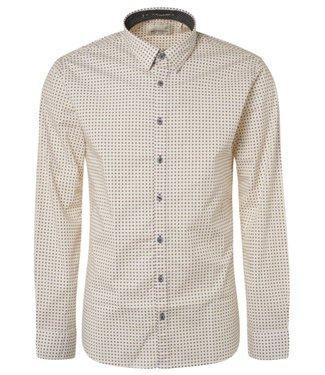 No Excess Shirt allover printed, stret white 94481111
