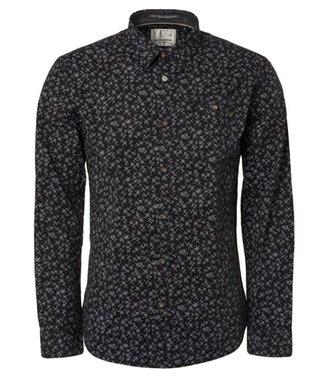 No Excess Shirt all over printed, stretch black 94431101