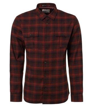 No Excess Shirt yarn dyed shadow check Brick 92430908