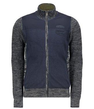 PME Legend Zip jacket Cotton mouline mix Total Eclipse PKC198320