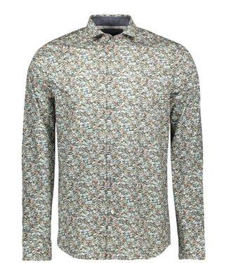 Vanguard Long Sleeve Shirt CF Print Blue Indigo VSI198400