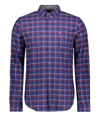 Vanguard Long Sleeve Shirt Check Navy Peony VSI197430