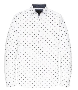 Vanguard Long Sleeve Shirt Print Bright White VSI197404