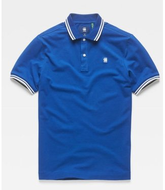 G-Star Dunda slim stripe polo s/s blauw D13325-5864-2727