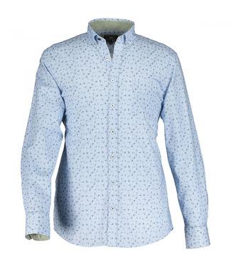 State of Art Shirt LS Printed Pop kobalt 21410006