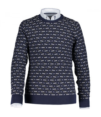 State of Art Pullover Crew-Neck J donkerblauw 11410063
