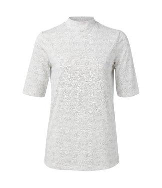 Yaya T-shirt with dots print OFF WHITE 1919119-011