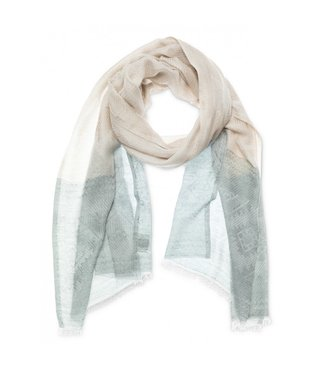 Yaya Jacquard scarf SEA BLUE 130181-011