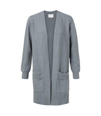 Yaya Cotton ribbed cardigan SEA BLUE 101070-011
