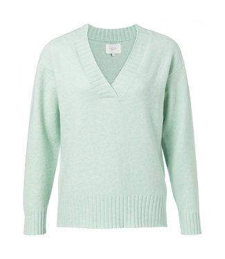 Yaya Wool blend V-neck sweater ICE BLUE 1000282-011